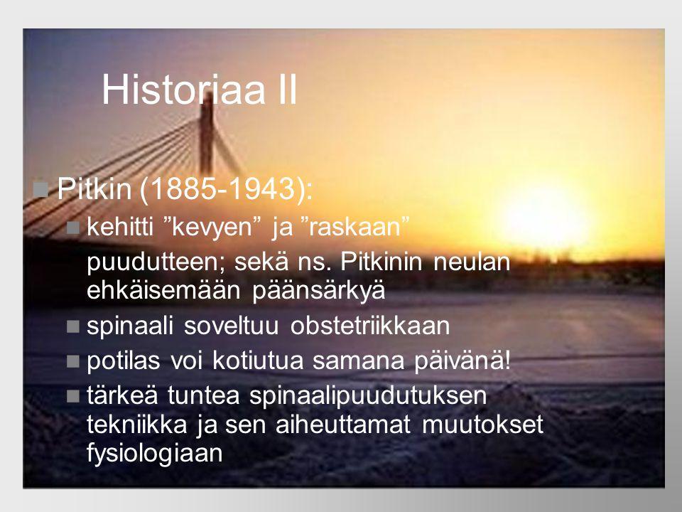 Historiaa II Pitkin (1885-1943): kehitti kevyen ja raskaan