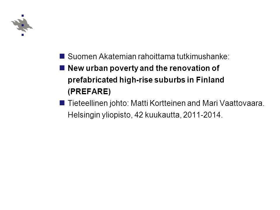 Suomen Akatemian rahoittama tutkimushanke:
