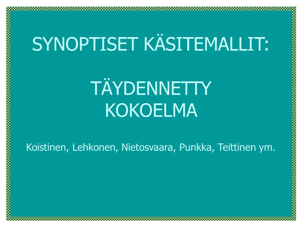 SYNOPTISET KÄSITEMALLIT: TÄYDENNETTY KOKOELMA Koistinen, Lehkonen, Nietosvaara, Punkka, Teittinen ym.