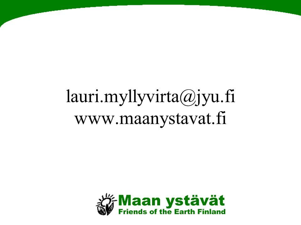 lauri.myllyvirta@jyu.fi www.maanystavat.fi