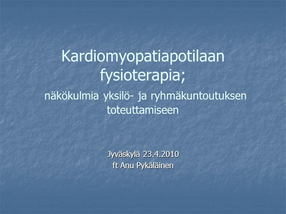 Jyväskylä 23.4.2010 ft Anu Pykäläinen