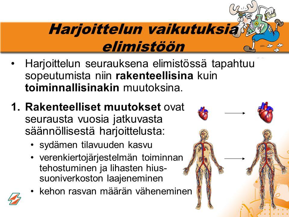 Harjoittelun vaikutuksia elimistöön