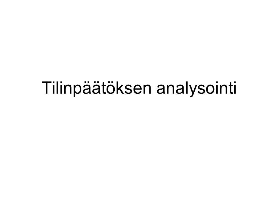 Tilinpäätöksen analysointi