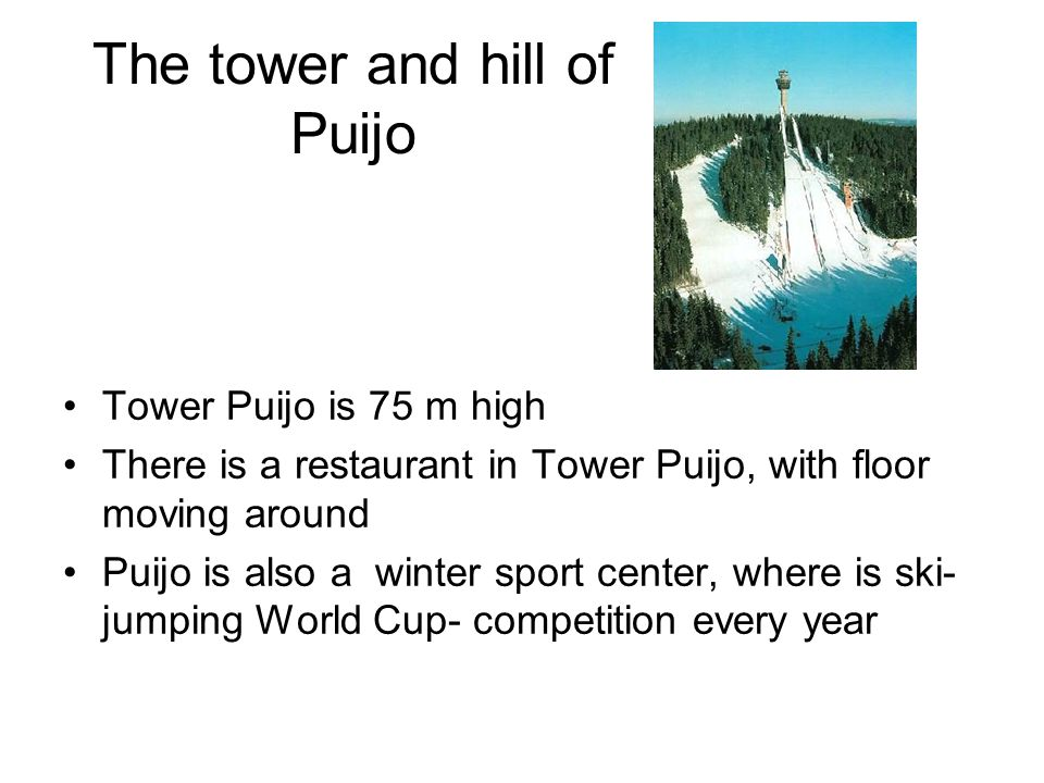 The tower and hill of Puijo