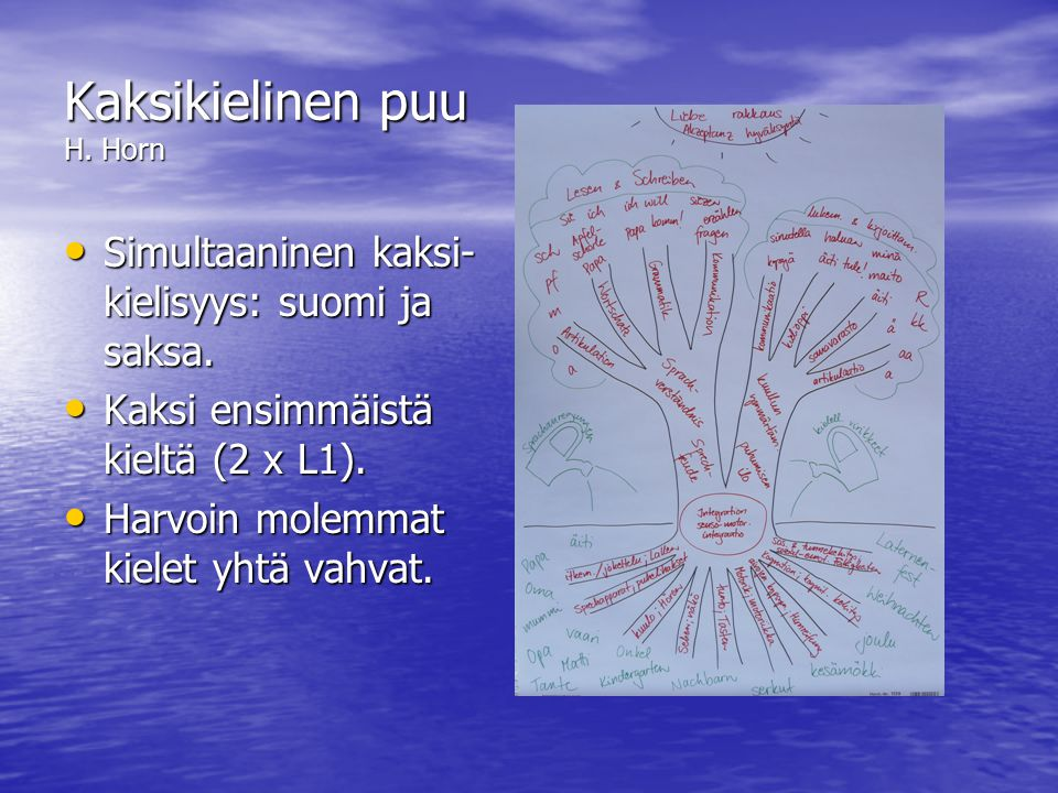 Kaksikielinen puu H. Horn