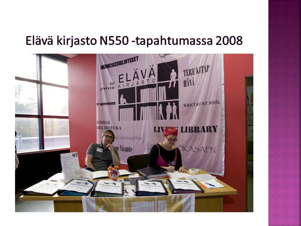 Elävä kirjasto N550 -tapahtumassa 2008