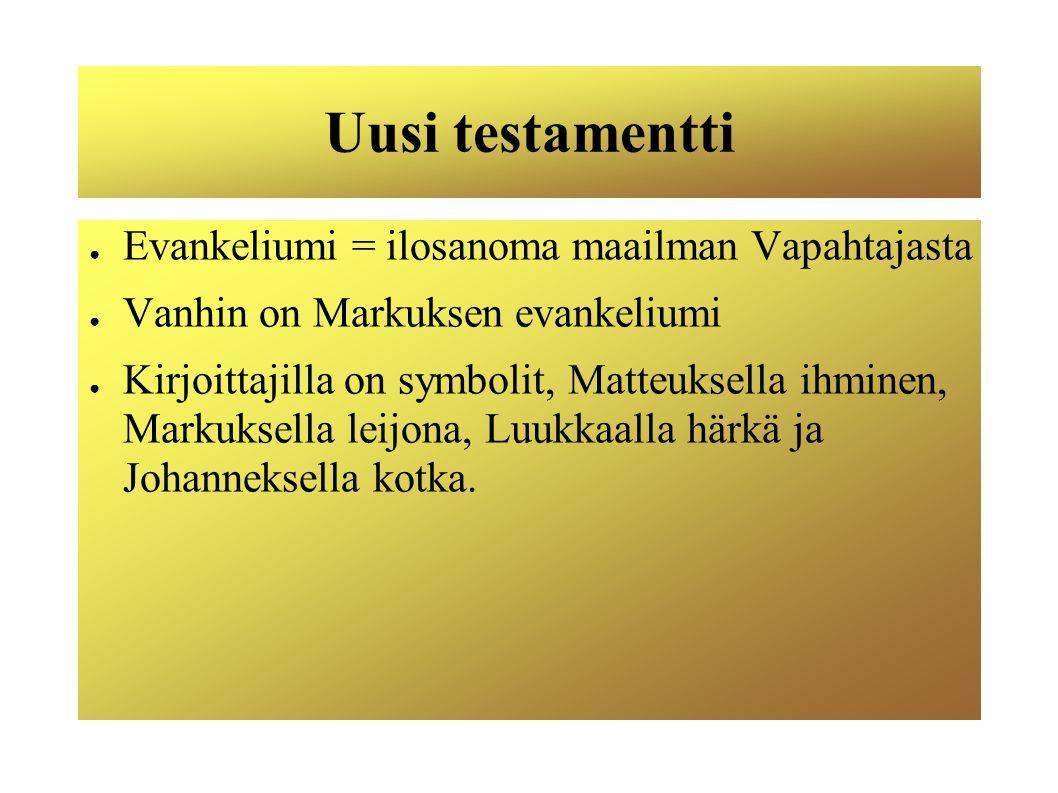 Uusi testamentti Evankeliumi = ilosanoma maailman Vapahtajasta