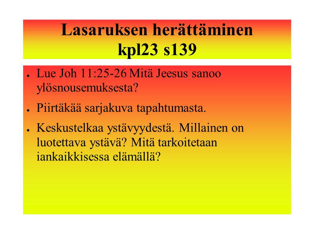 Lasaruksen herättäminen kpl23 s139
