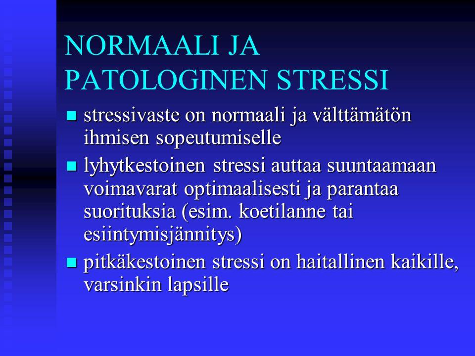 NORMAALI JA PATOLOGINEN STRESSI