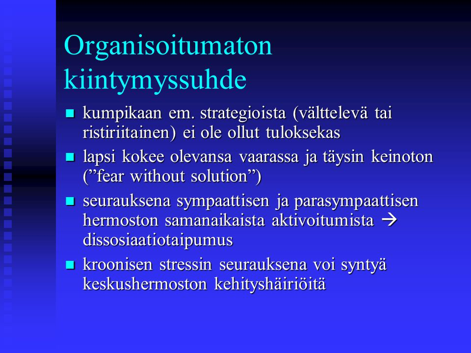 Organisoitumaton kiintymyssuhde