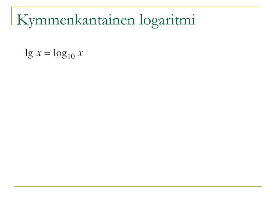 Kymmenkantainen logaritmi