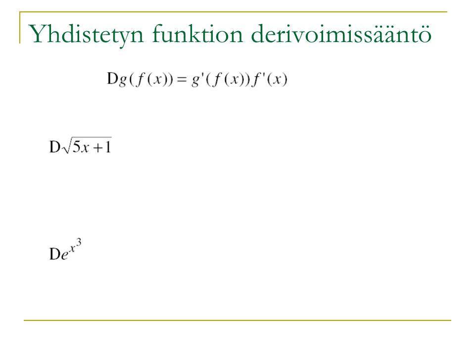 Yhdistetyn funktion derivoimissääntö