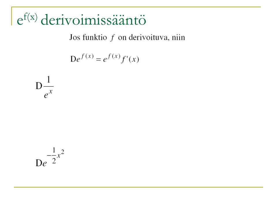 ef(x) derivoimissääntö