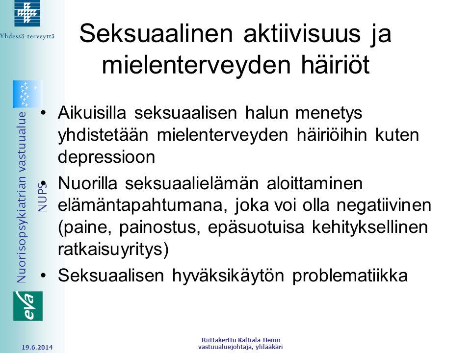 Seksuaalinen aktiivisuus ja mielenterveyden häiriöt