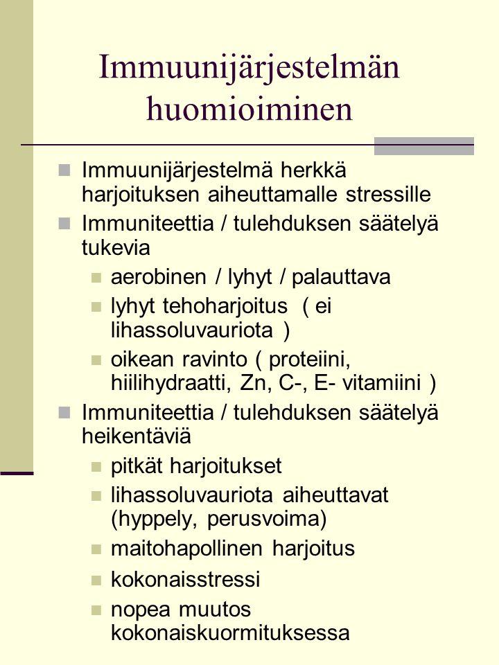 Immuunijärjestelmän huomioiminen