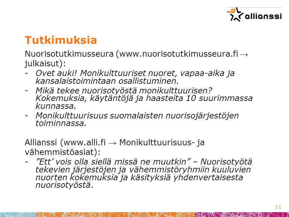 Tutkimuksia Nuorisotutkimusseura (www.nuorisotutkimusseura.fi →