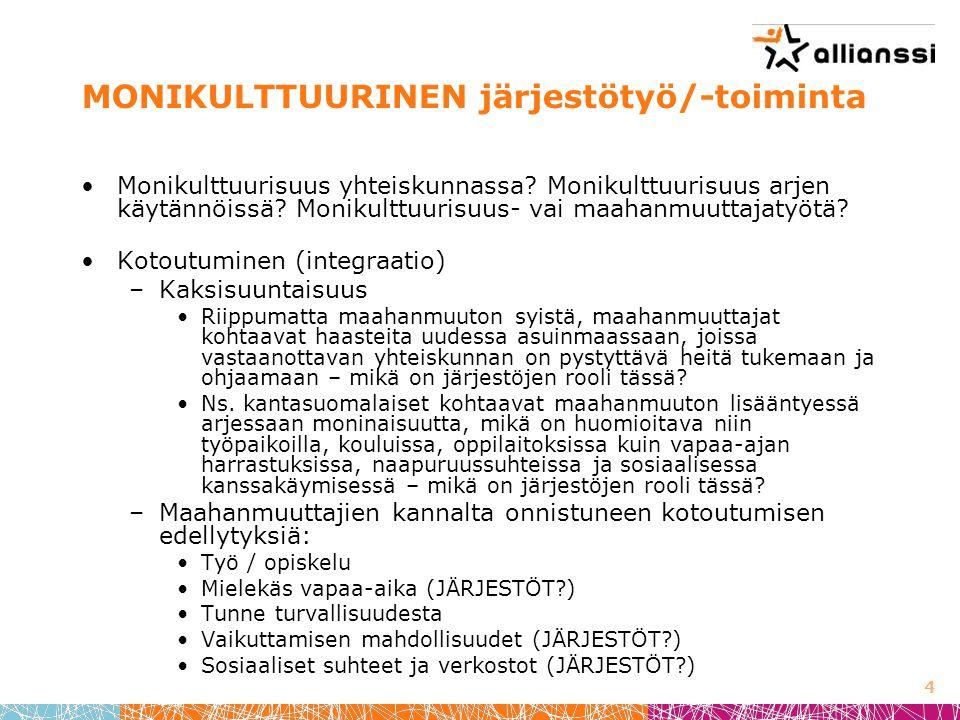 MONIKULTTUURINEN järjestötyö/-toiminta