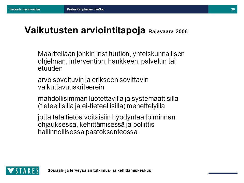 Vaikutusten arviointitapoja Rajavaara 2006