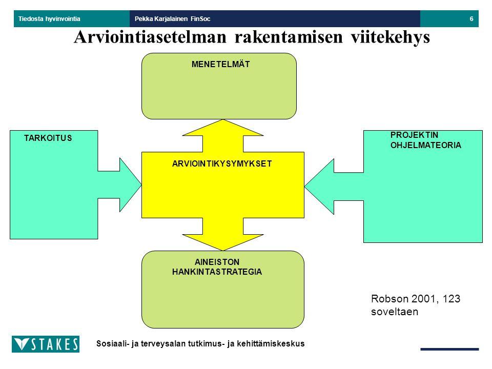 Arviointiasetelman rakentamisen viitekehys