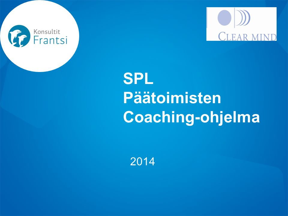 SPL Päätoimisten Coaching-ohjelma