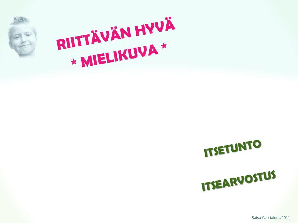 RIITTÄVÄN HYVÄ * MIELIKUVA * ITSETUNTO ITSEARVOSTUS