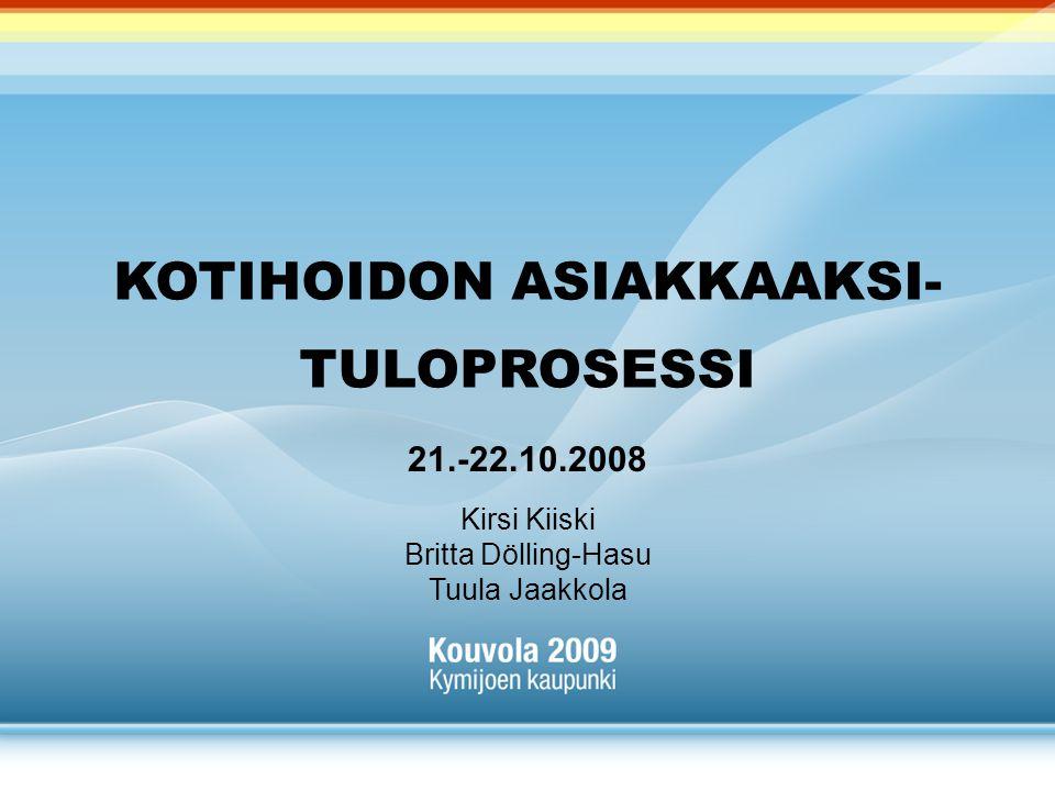 KOTIHOIDON ASIAKKAAKSI- TULOPROSESSI