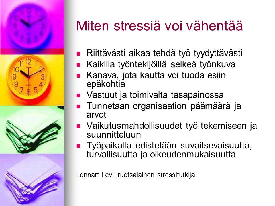 Miten stressiä voi vähentää
