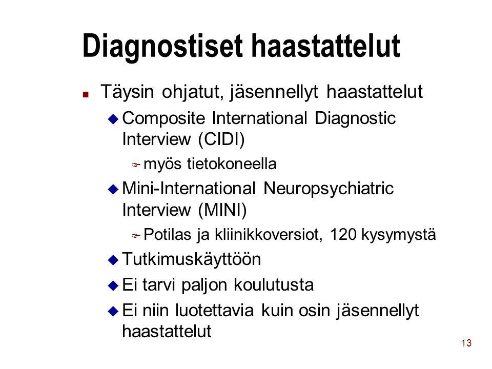 Diagnostiset haastattelut