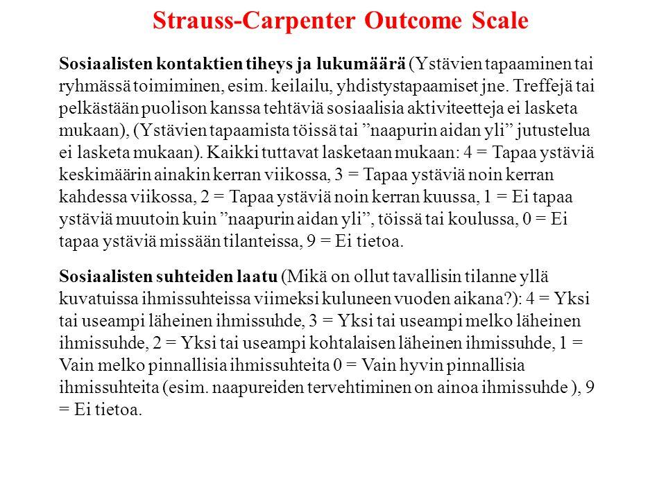Strauss-Carpenter Outcome Scale