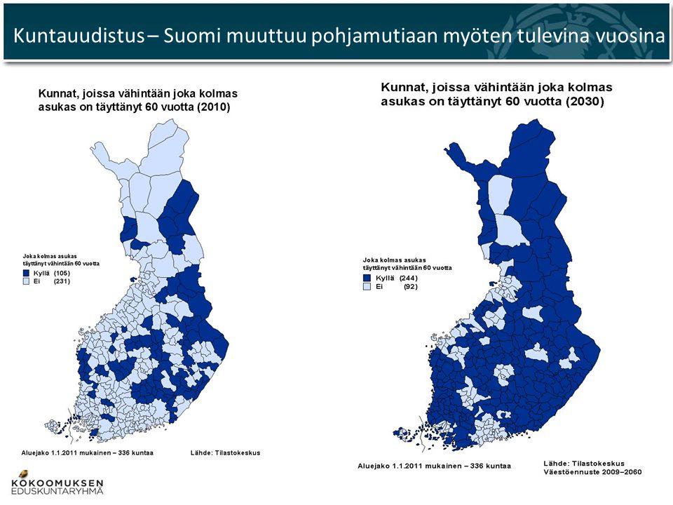 Kuntauudistus – Suomi muuttuu pohjamutiaan myöten tulevina vuosina