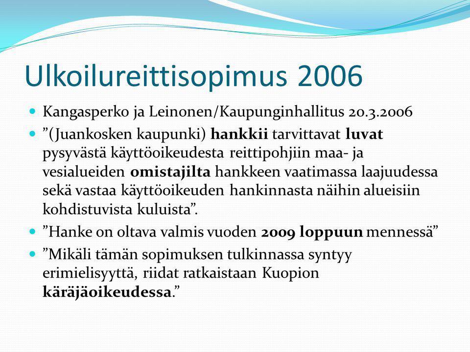 Ulkoilureittisopimus 2006