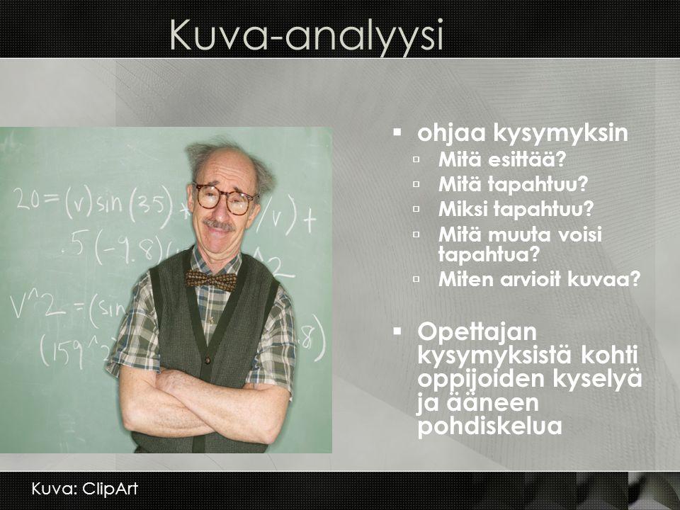 Kuva-analyysi ohjaa kysymyksin