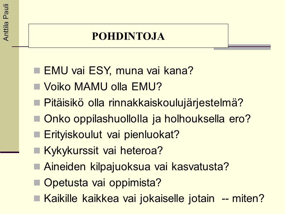 EMU vai ESY, muna vai kana Voiko MAMU olla EMU