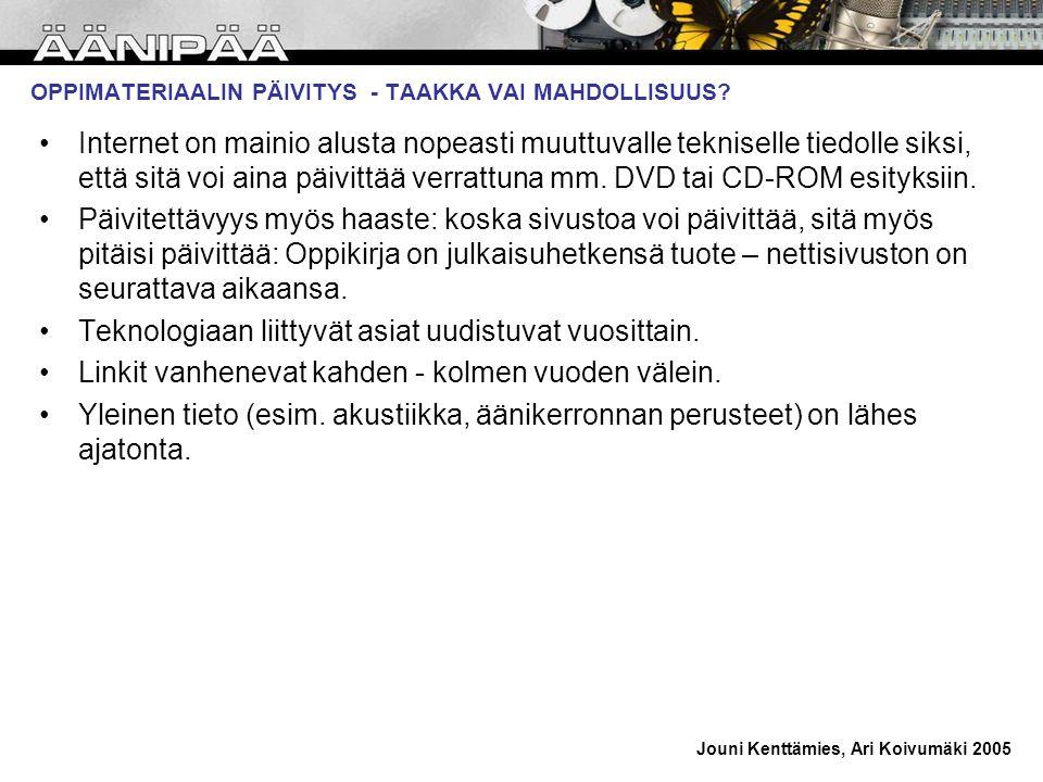 OPPIMATERIAALIN PÄIVITYS - TAAKKA VAI MAHDOLLISUUS