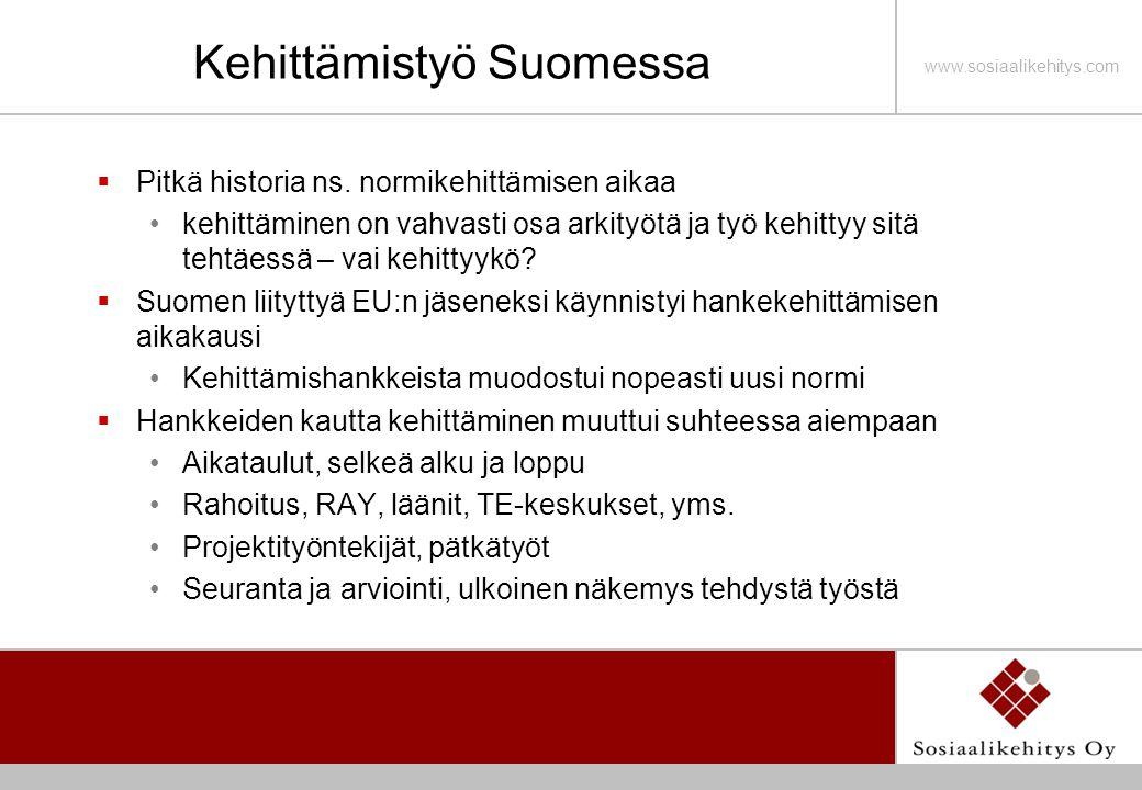 Kehittämistyö Suomessa