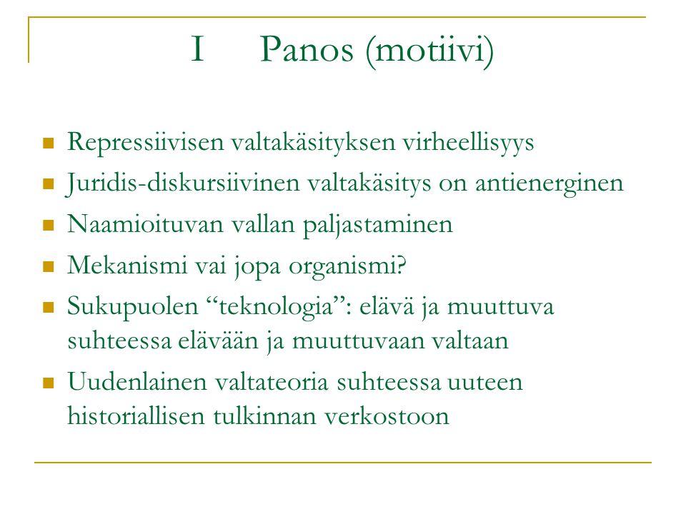 I Panos (motiivi) Repressiivisen valtakäsityksen virheellisyys