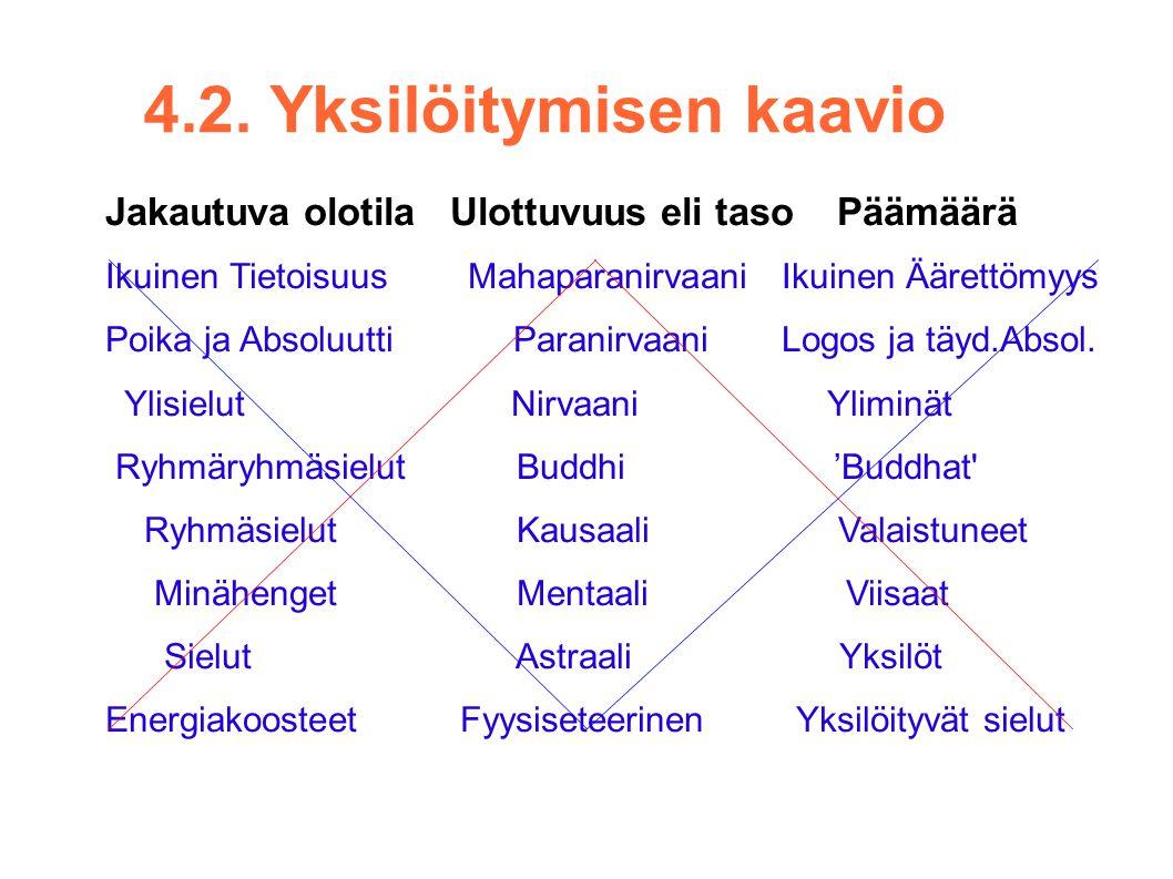4.2. Yksilöitymisen kaavio