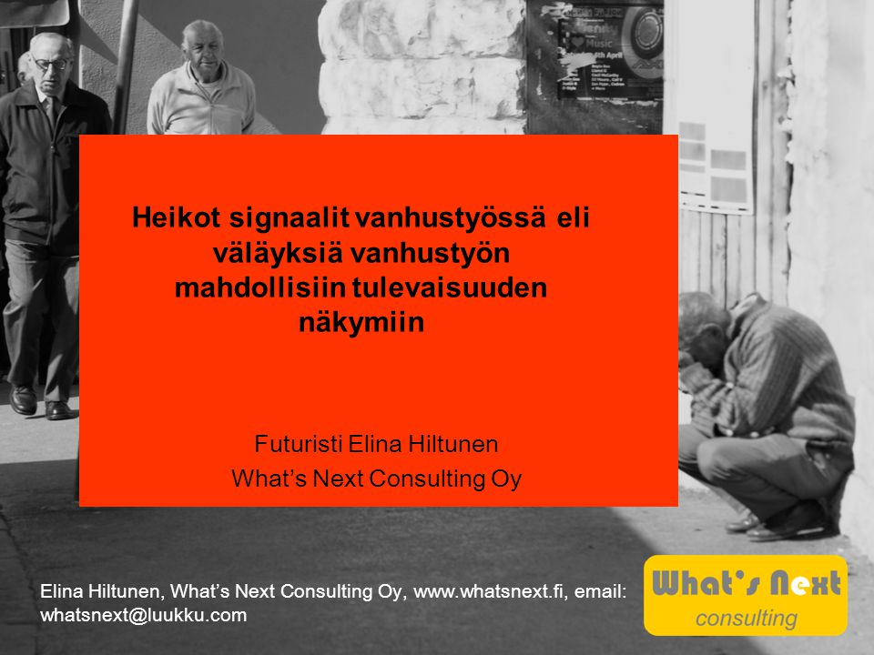 Futuristi Elina Hiltunen What's Next Consulting Oy