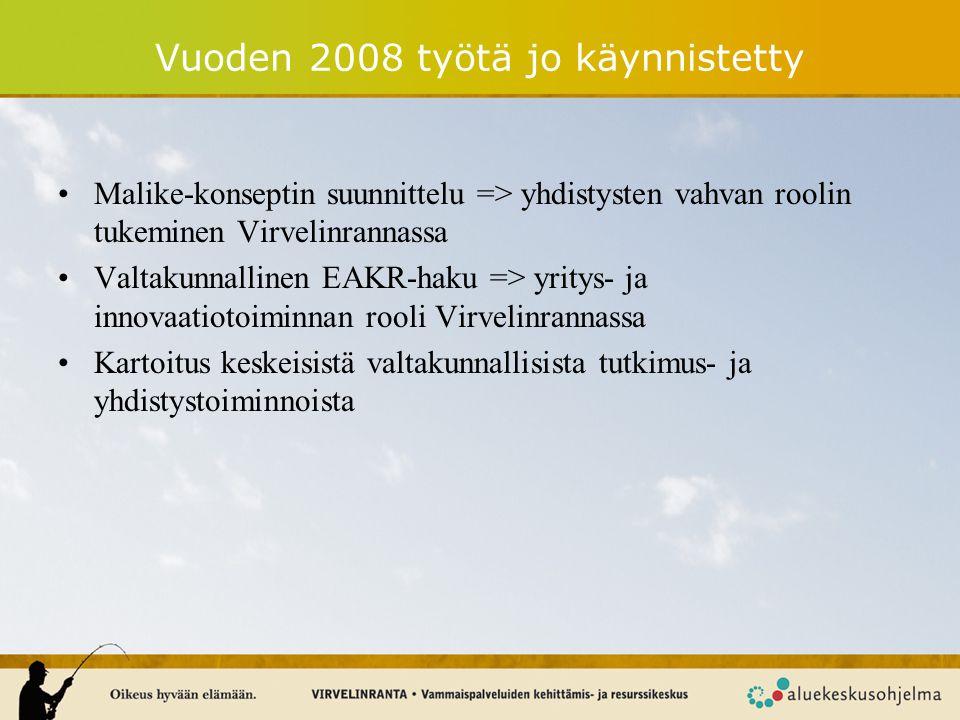 Vuoden 2008 työtä jo käynnistetty