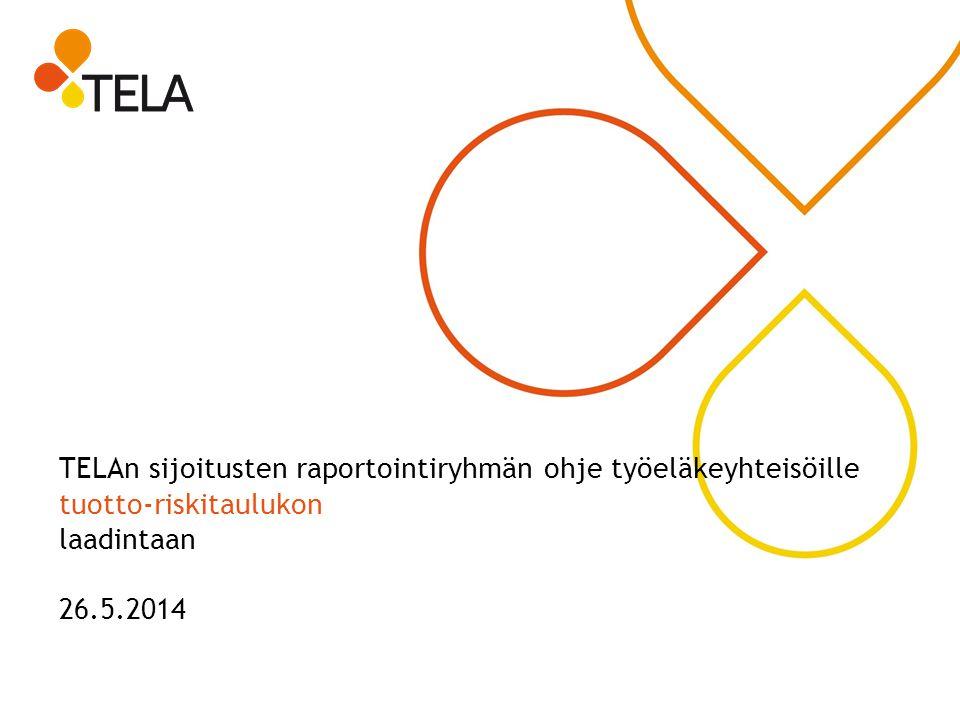 TELAn sijoitusten raportointiryhmän ohje työeläkeyhteisöille tuotto-riskitaulukon laadintaan 26.5.2014