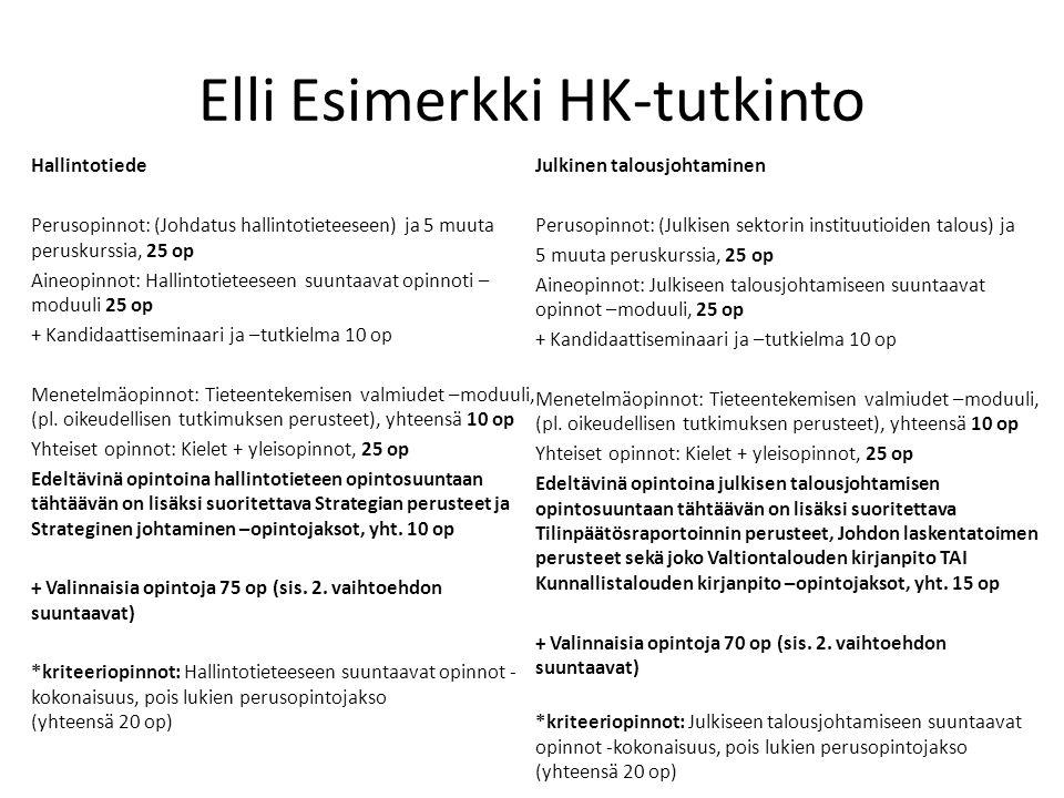 Elli Esimerkki HK-tutkinto