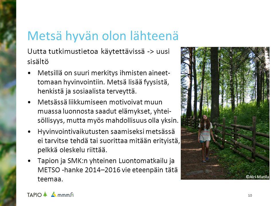 Metsä hyvän olon lähteenä
