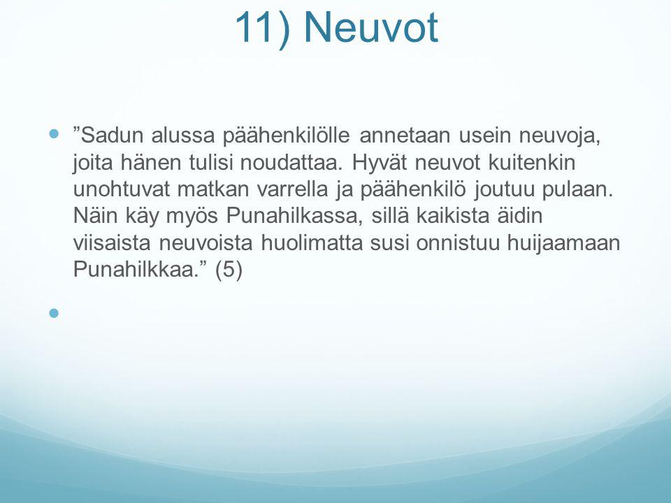 11) Neuvot
