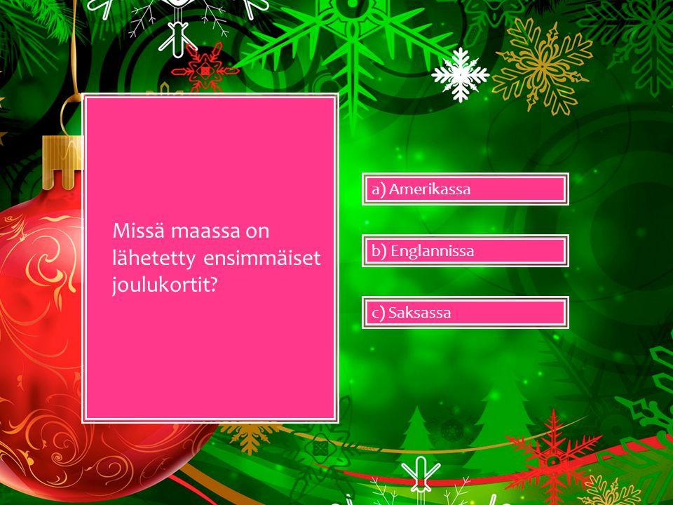 Missä maassa on lähetetty ensimmäiset joulukortit