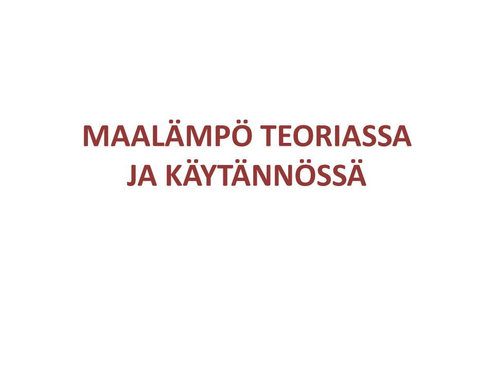 MAALÄMPÖ TEORIASSA JA KÄYTÄNNÖSSÄ