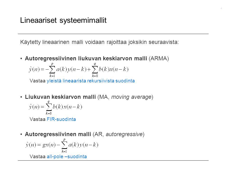 Lineaariset systeemimallit