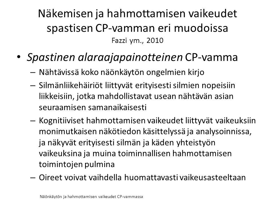 Näönkäytön ja hahmottamisen vaikeudet CP-vammassa