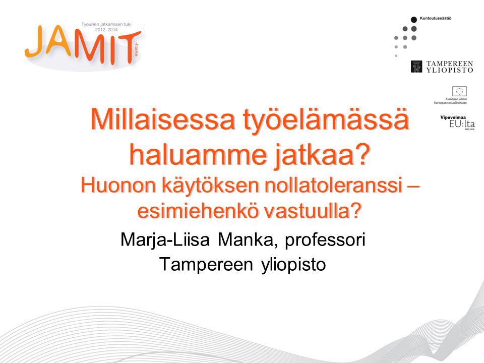 Marja-Liisa Manka, professori Tampereen yliopisto