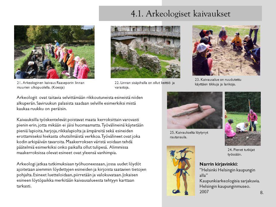 4.1. Arkeologiset kaivaukset