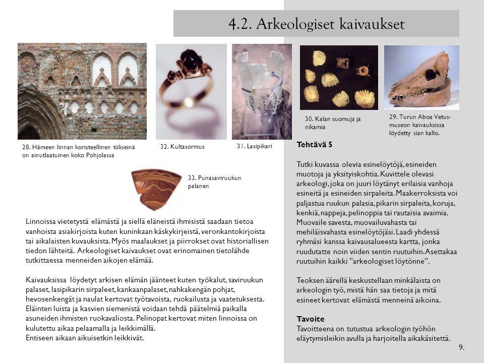 4.2. Arkeologiset kaivaukset